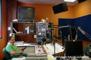 WEMG's studio