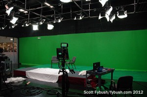 WBBZ's big green screen
