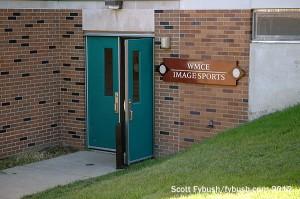 WMCE's main entrance