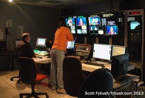 Control room at KVLY