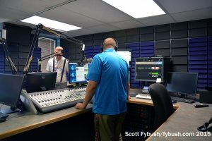 The rebuilt WAJI 95.1 studio