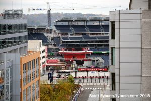 Nationals Park from the CBS rooftop