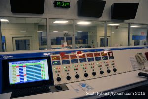 At the control console