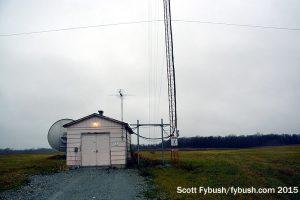 WIOE transmitter building
