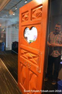 CHOM's historic door