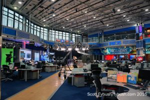 On the newsroom floor