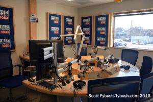 WBZ radio talk studio