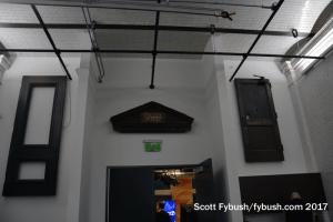 History above the studio door