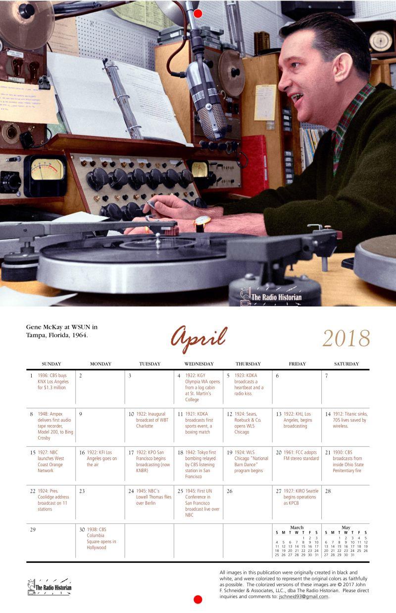 the radio historians 2018 classic radio studios calendar