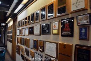 Wall full of awards
