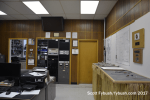 One side of the transmitter room...