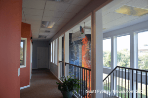 Townsquare back hallway