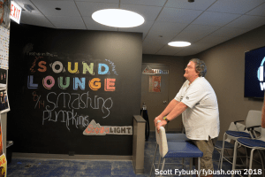Audience entrance to the Sound Lounge