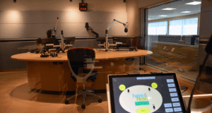 Looking into the new WBUR studio