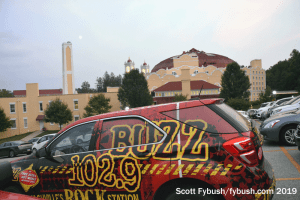 Baden Springs hotel and WBUZ truck