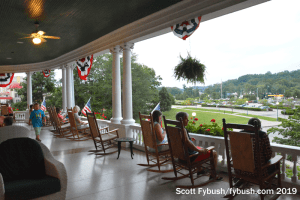 On the porch in French Lick