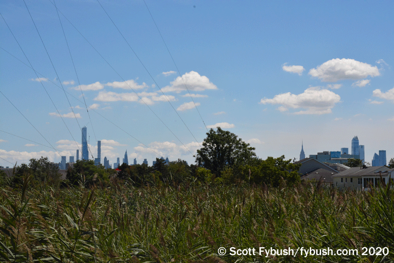New York in the distance