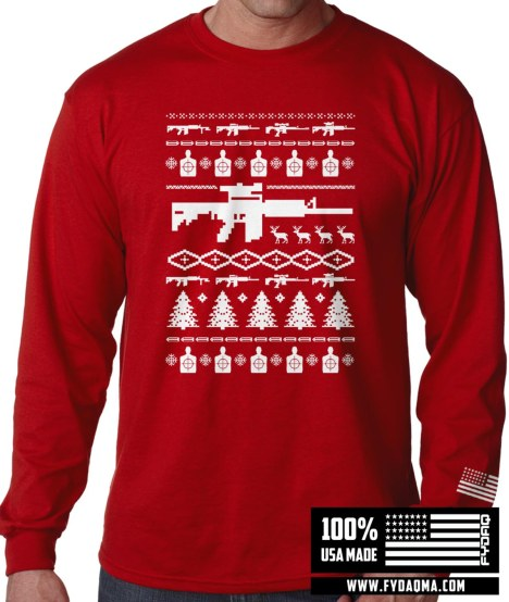 AR-15 Ugly Christmas Sweater Style
