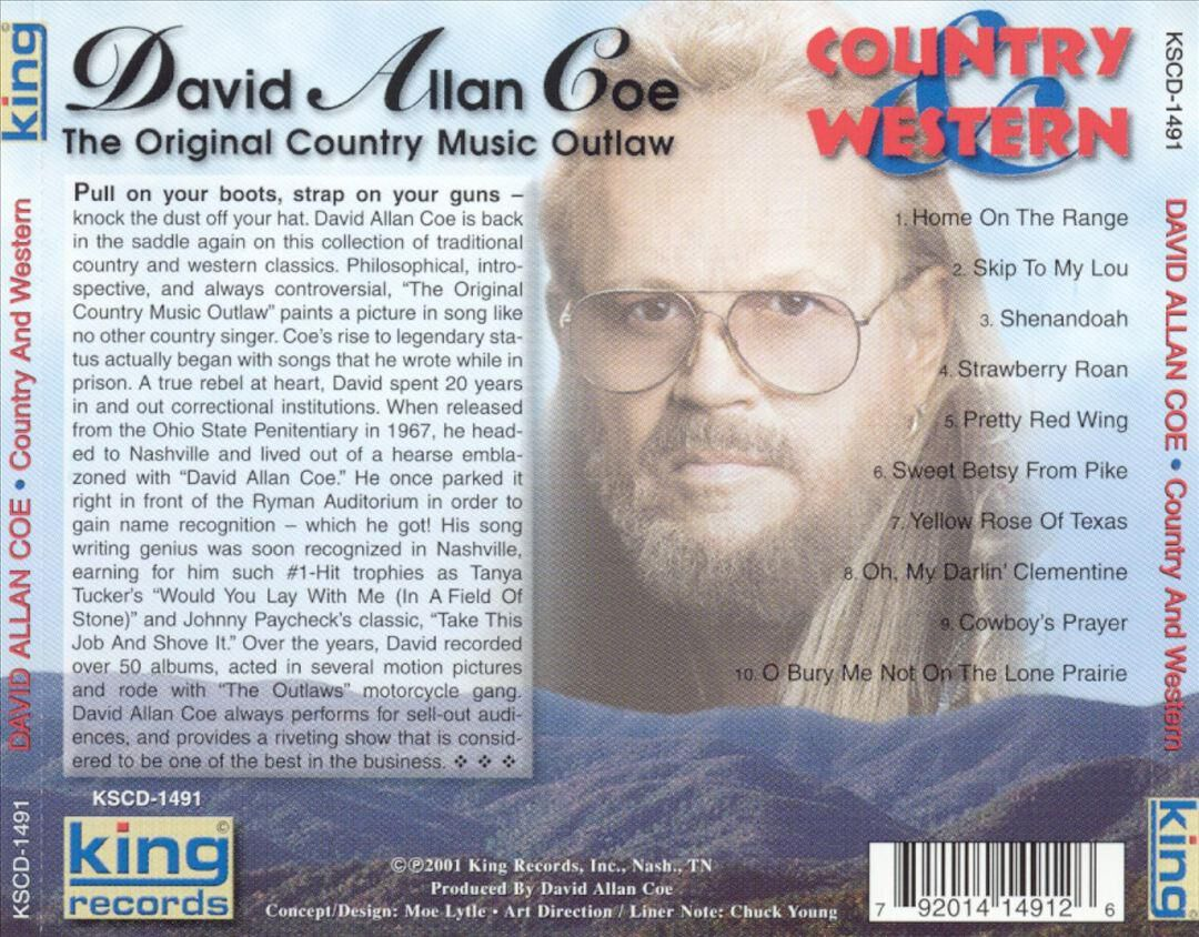 Country And Western By David Allan Coe New On CD FYE