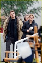 *EXCLUSIVE* Theo James and Shailene Woodley gear up for the last days of filming