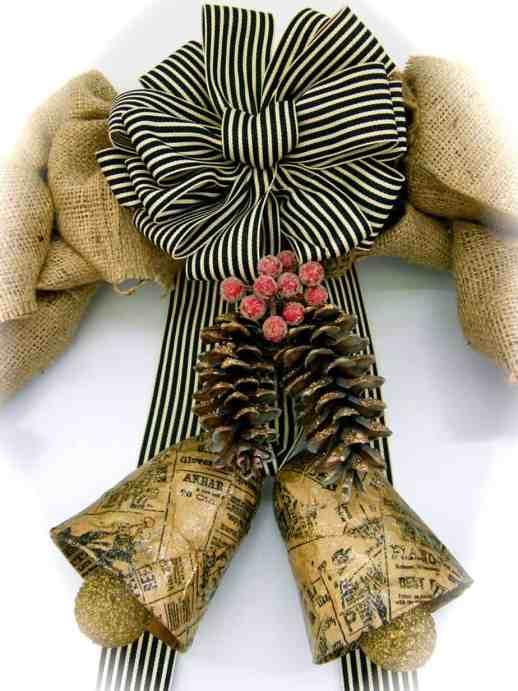 Beautiful May Arts Ribbon Striped Cotton Bow
