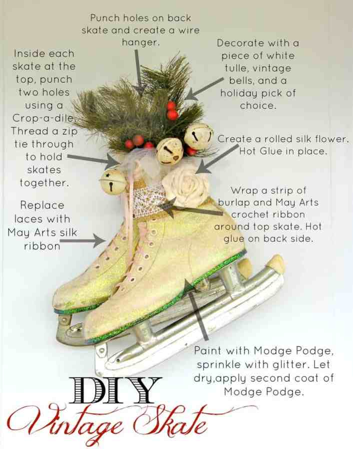How to create a vintage skate door hanger. From fynesdesings.com