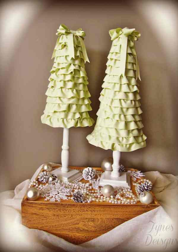 Ruffle Christmas Trees!! The Cheap Way
