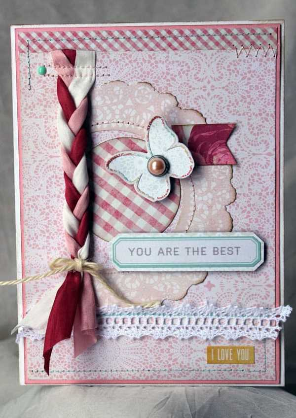 May Arts and CardMaker Blog Hop- Feminine Valentine Card