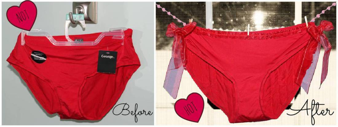 Before and after panties