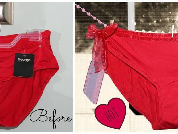 Flirty Valentine Panty Refashion