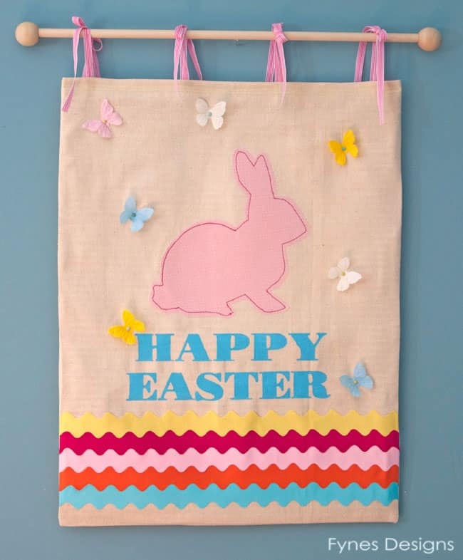 Cute Easter Bunny Wall Hanging from fynesdesigns.com