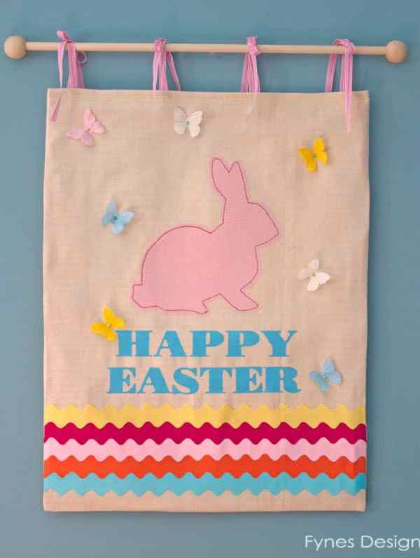 Cute Easter Bunny Wall Hanging Tutorial