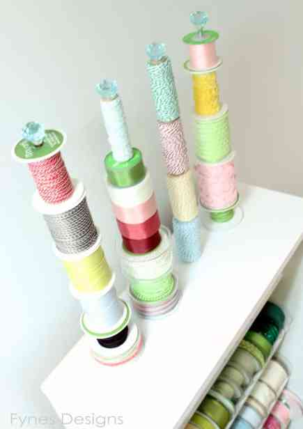 ribbon organization idea from fynesdesigns.com