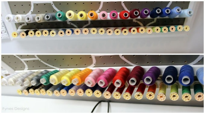 DIY Thread Storage Rack