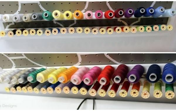 DIY Thread Storage Rack