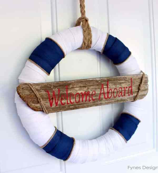 Nautical Decor Wreath… Inspired by Lunenburg Nova Scotia