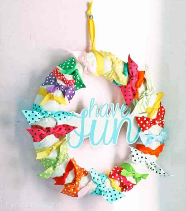 Have Fun ribbon wreath fynesdesigns.com