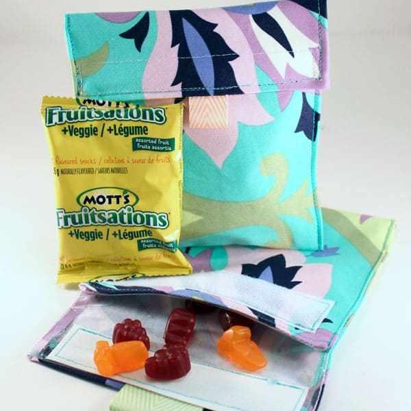 DIY lunch snack bags
