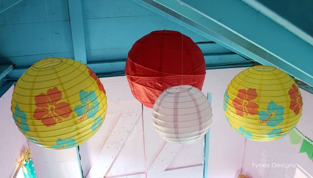 Paper Lanterns in the playhouse