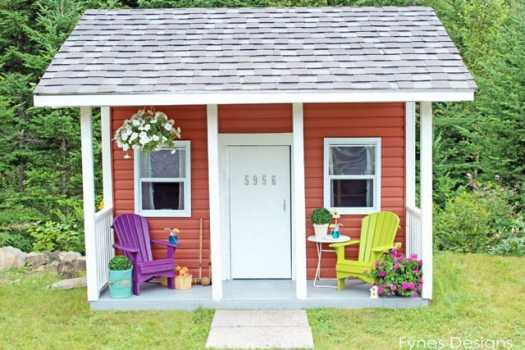 This little playhouse is so cute, every kids dream!