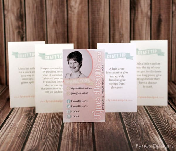 Creative Blogger Business Cards - fynesdesigns.com