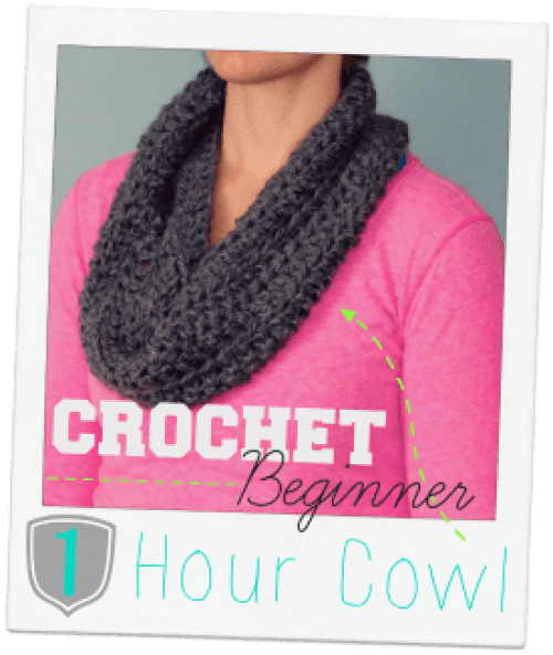 crochet beginner 1 hour cowl
