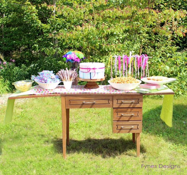 Birthday party tablescape