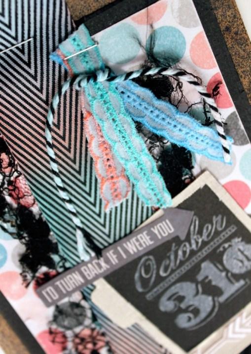 Using Faber-Castell Gelatos on May Arts Ribbon
