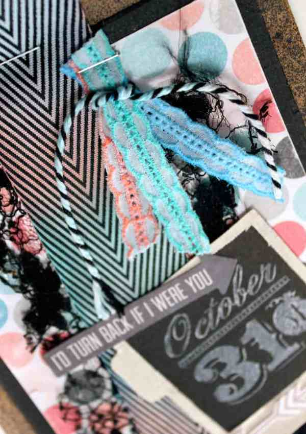 May Arts Ribbon and Faber-Castell Blog Hop- Halloween Treat Bag