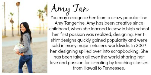 Amy -tan-bio | Craft Gifts by popular Canada lifestyle blog, Fynes Designs: image of Amy Jan of Amy Tangerine.