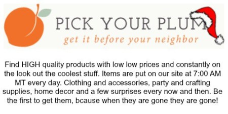 Pick your plum bio | Craft Gifts by popular Canada lifestyle blog, Fynes Designs: image of the Pick Your Plum logo.