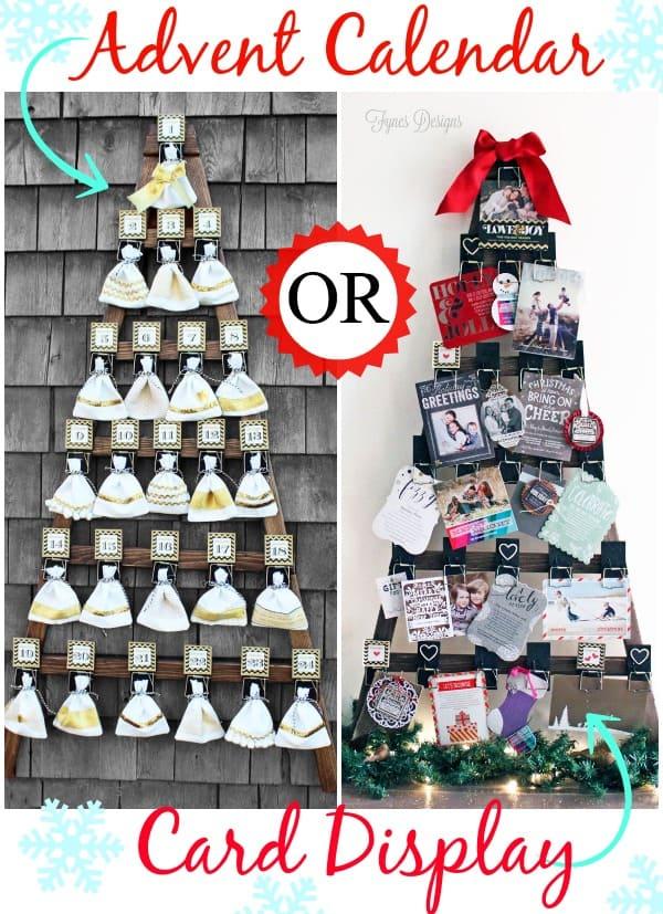 Mousetrap Advent Calendar or Christmas Card Display