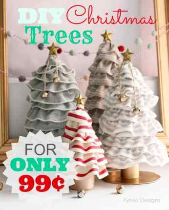 DIY Christmas Tree Cones- For ONLY 99¢! You'll never guess how easy these are! A MUST see!! | a tutorial featured by top US craft blog, Fynes Designs