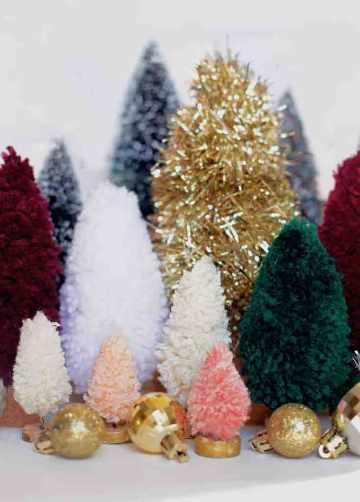 How to make handmade bottle brush trees |Bottle Brush Tress by popular Canada DIY blog, Fynes Designs: image of bottle brush trees.